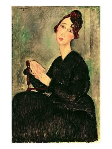 5616711098e Giclee Print  Portrait of a Young Woman by Amedeo Modigliani   24x18in