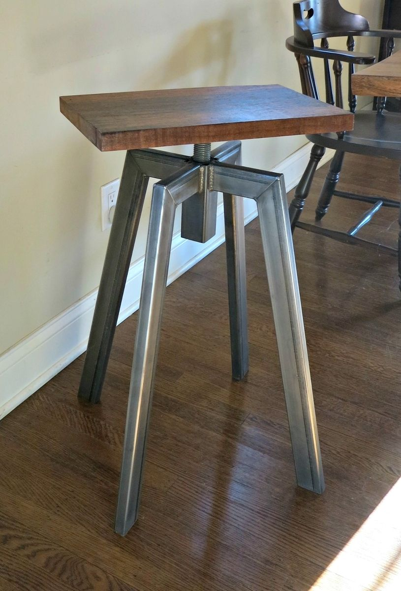 Industrial Inspired Bar Stool Bancada Industrial Moveis Com