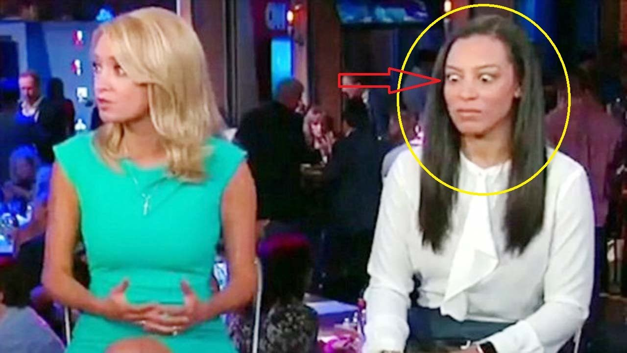 Cnn Panelist Angela Rye Giving Trump Surrogate Kayleigh Mcenany A Huge Eye Roll Huge Eyes Angela Rye Kayleigh Mcenany