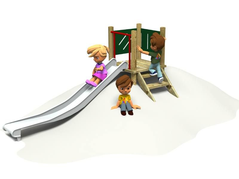 Embankment slide / Playground Equipment / Action Play & Leisure