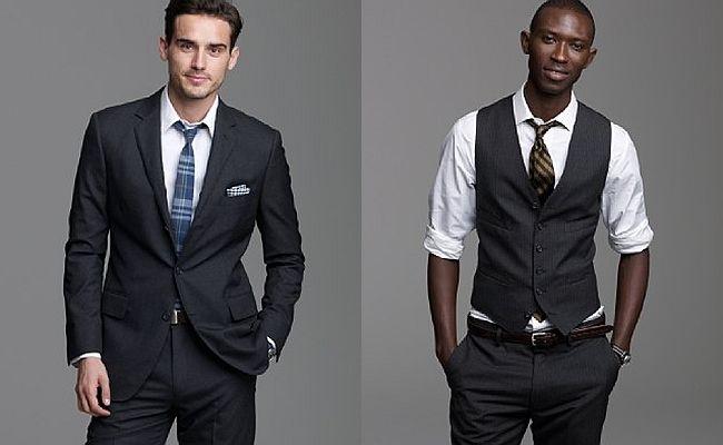 J Crew Aldridge 3 Button Suit Vest in Heather Charcoal   wedding ...