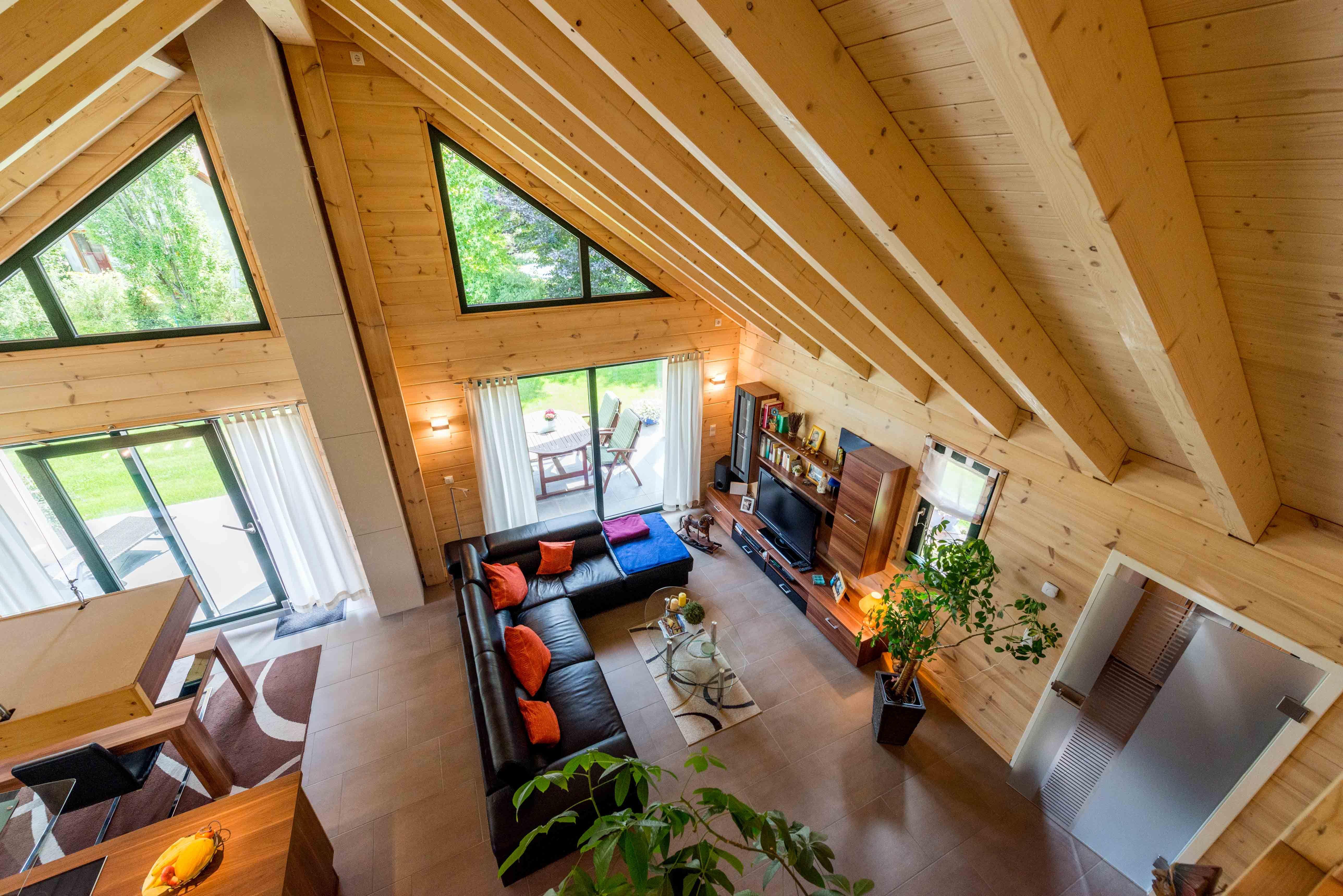 1,5geschossiges Fullwood Wohnholzhaus massives Holzhaus