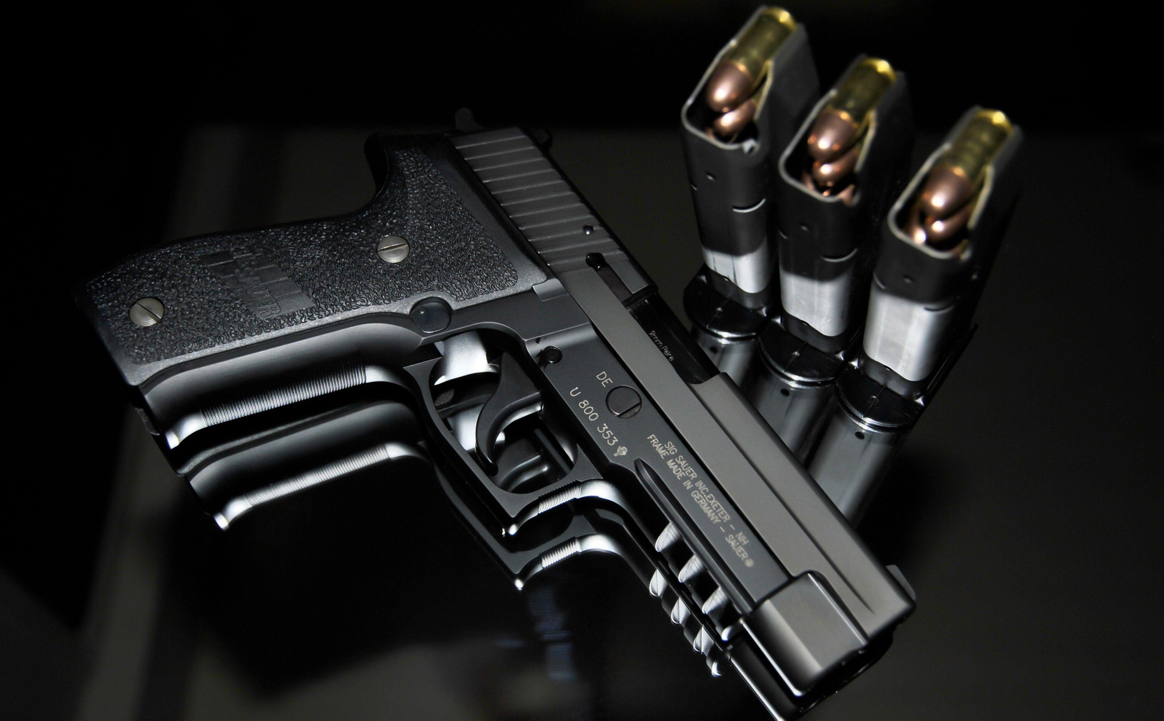 3840x2378 Sig Sauer P226 4k Wallpaper Picture Weapons Hand Guns