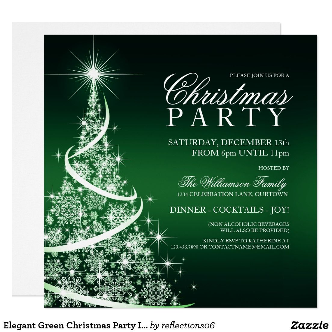 vintage christmas party red deer rustic holiday card christmas elegant green christmas party invitation