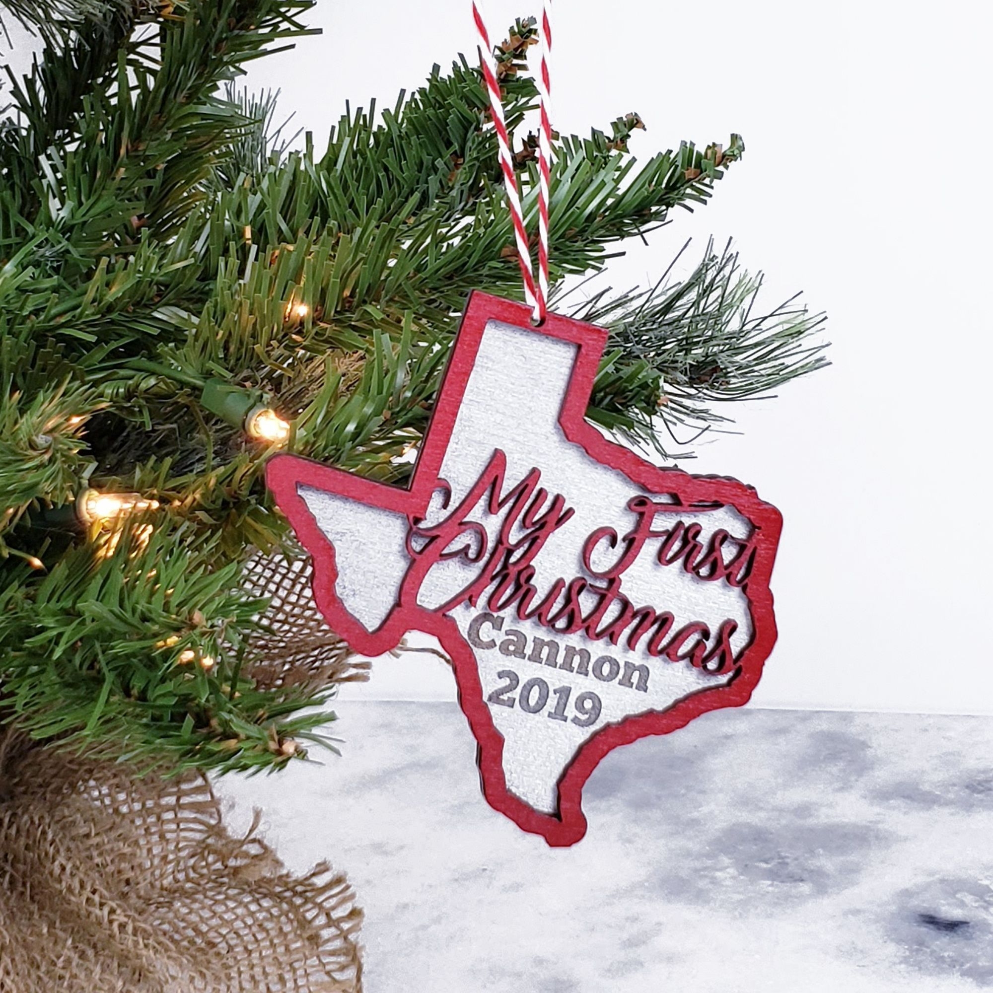 State Of Texas Baby S First Christmas Ornament 2019 Etsy Christmas Ornaments Baby First Christmas Ornament Christmas Gift Decorations