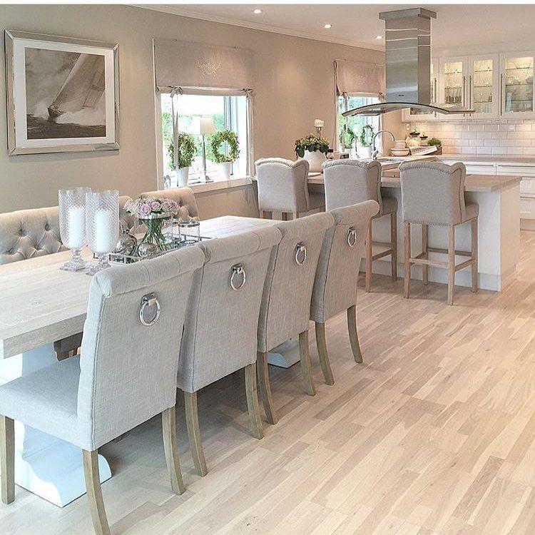 muurkleur woonkamer pinterest moderne k che esszimmer und k che. Black Bedroom Furniture Sets. Home Design Ideas