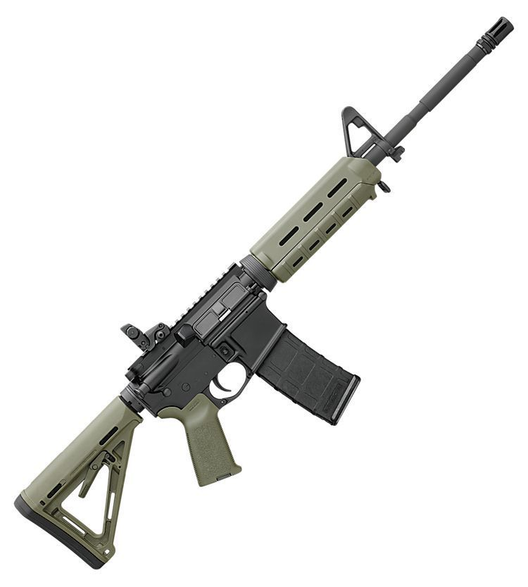 Bushmaster moe m4 carbine rifle od green bass pro for Green top hunting and fishing