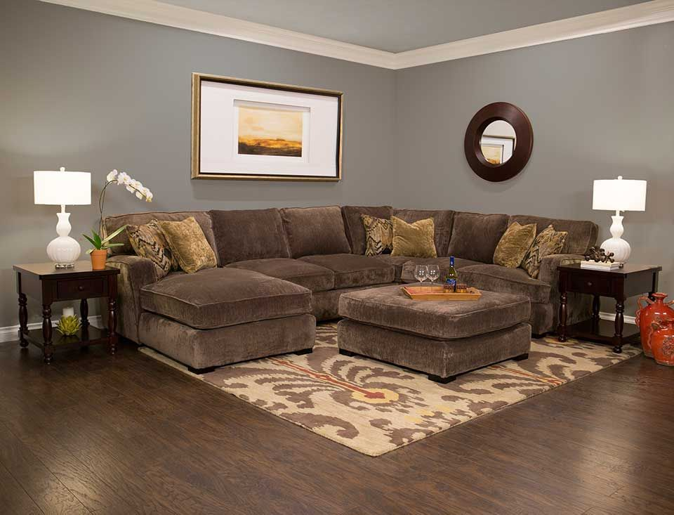 Cozy up with our teddy sectional jerome 39 s furniture for Jerome s furniture