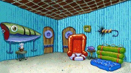 Spongebob S Living Room Spongebob Background Spongebob Wallpaper Spongebob