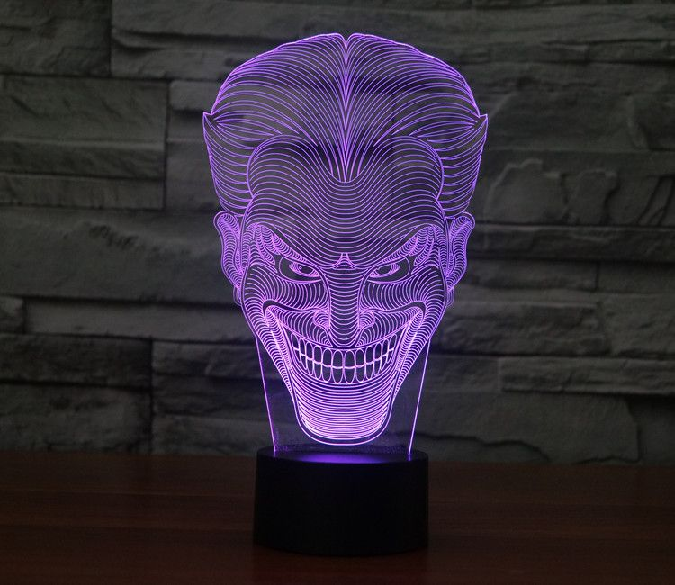 7 Colors Joker 3d Illusion Table Lamp Led Lamps Beautiful Curves Designs Balloonsale 3d Night Light 3d Illusion Lamp 3d Light
