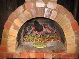 outdoor brick oven great for pizza breads and meats from bricks