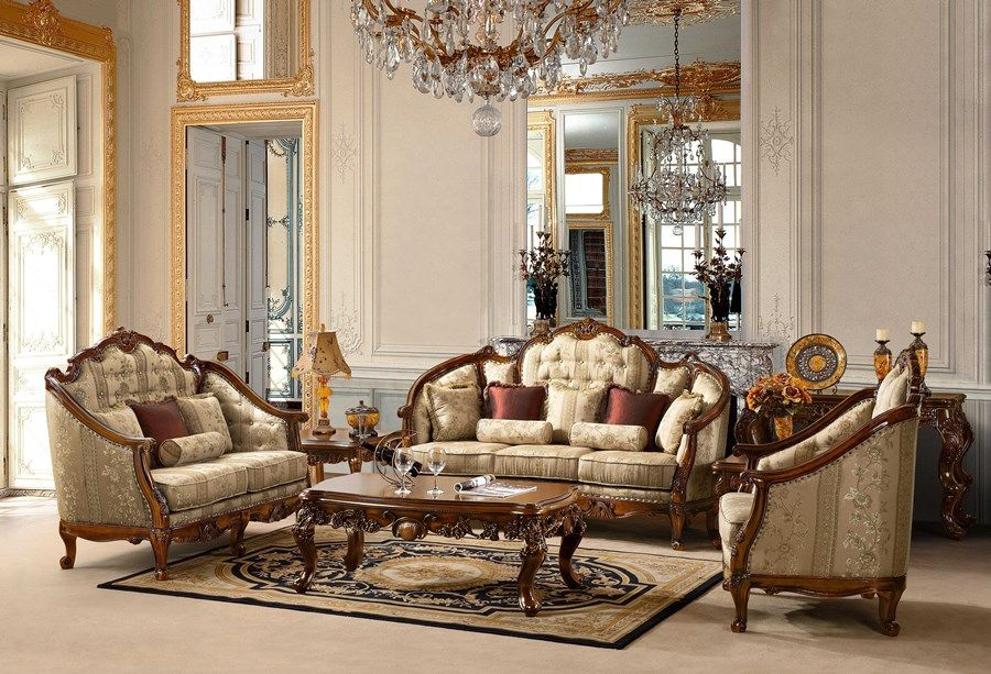 Victorian Style Living Room Sofa Sets