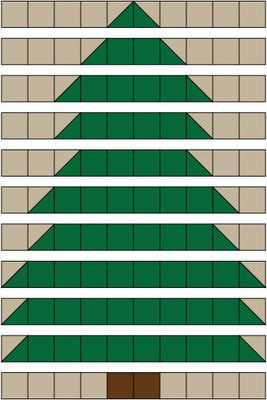 Christmas Tree Rag Quilt Pattern | Christmas tree quilt, Tree ... : christmas rag quilt patterns - Adamdwight.com