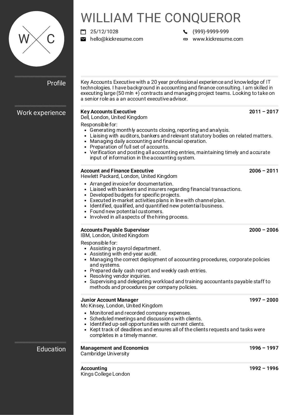 Account Executive Sample Resume Examples 2019
