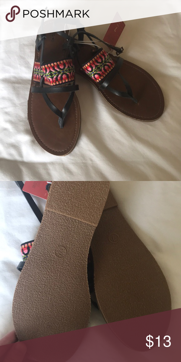 d62d4efd1742 Sonora style Mossimo Supply Co sandals! New with tags sandals from Target!  Design across the foot and black strap along the back! Mossimo Supply Co.