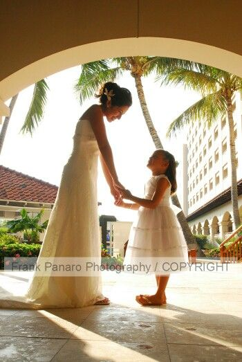 Bride And Flower Girl At The Hyatt Regency In Aruba Wedding Photographers