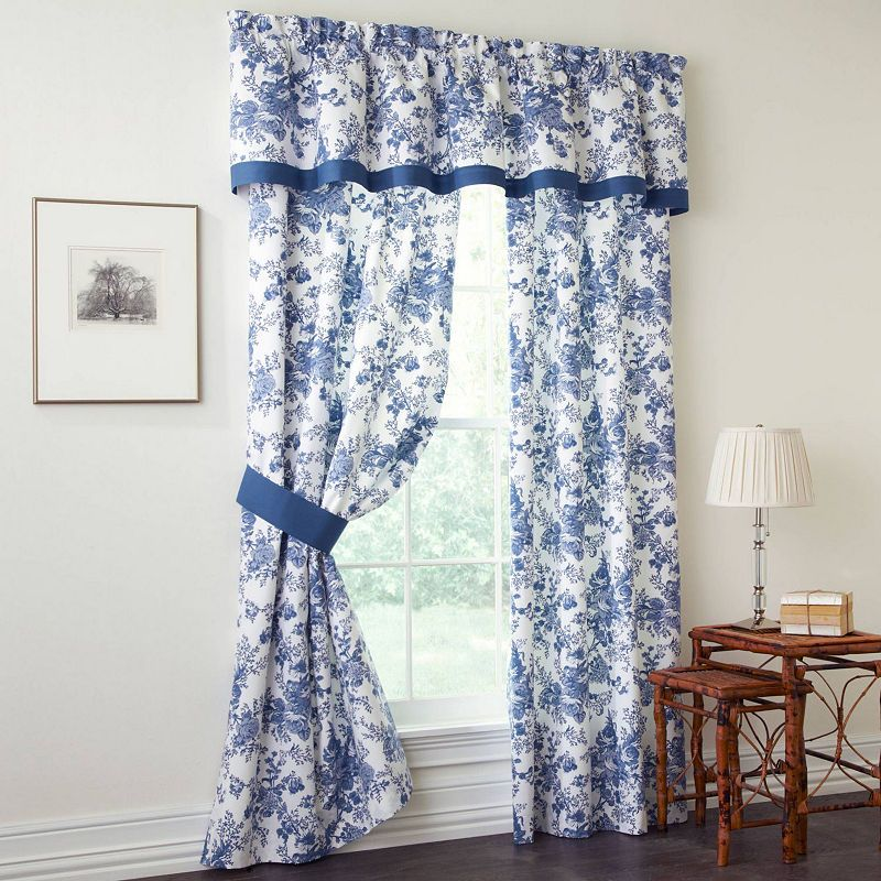 Toile Garden Valance Panel Curtains