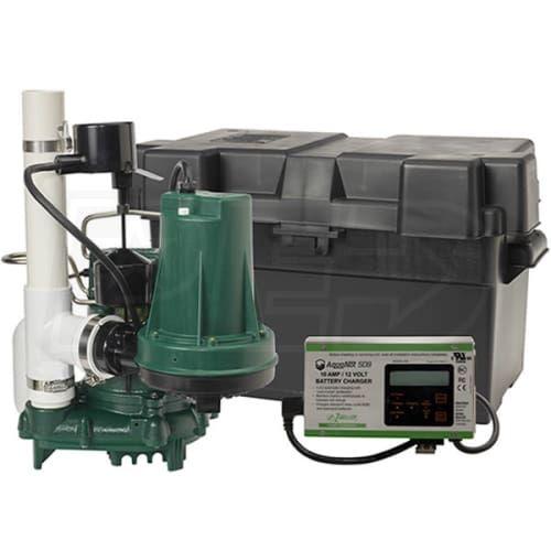 Zoeller 508 0007 Propack98 1 2 Hp Combination Primary Backup Sump Pump System Sump Pump Backup Sump Pump Sump