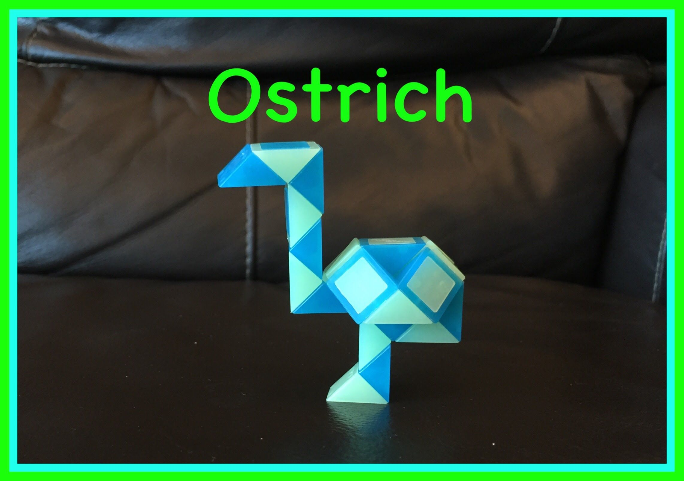 Smiggle Snake Puzzle (Rubik's Twist): How To Make An Ostrich