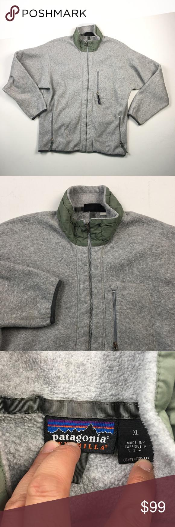 Patagonia vintage mens grey fleece jacket xl c in my posh