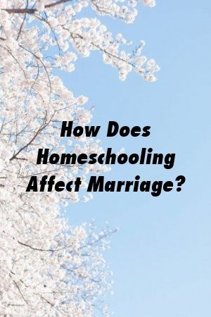 How Does Homeschooling Affect Marriage? by werelation.xyz