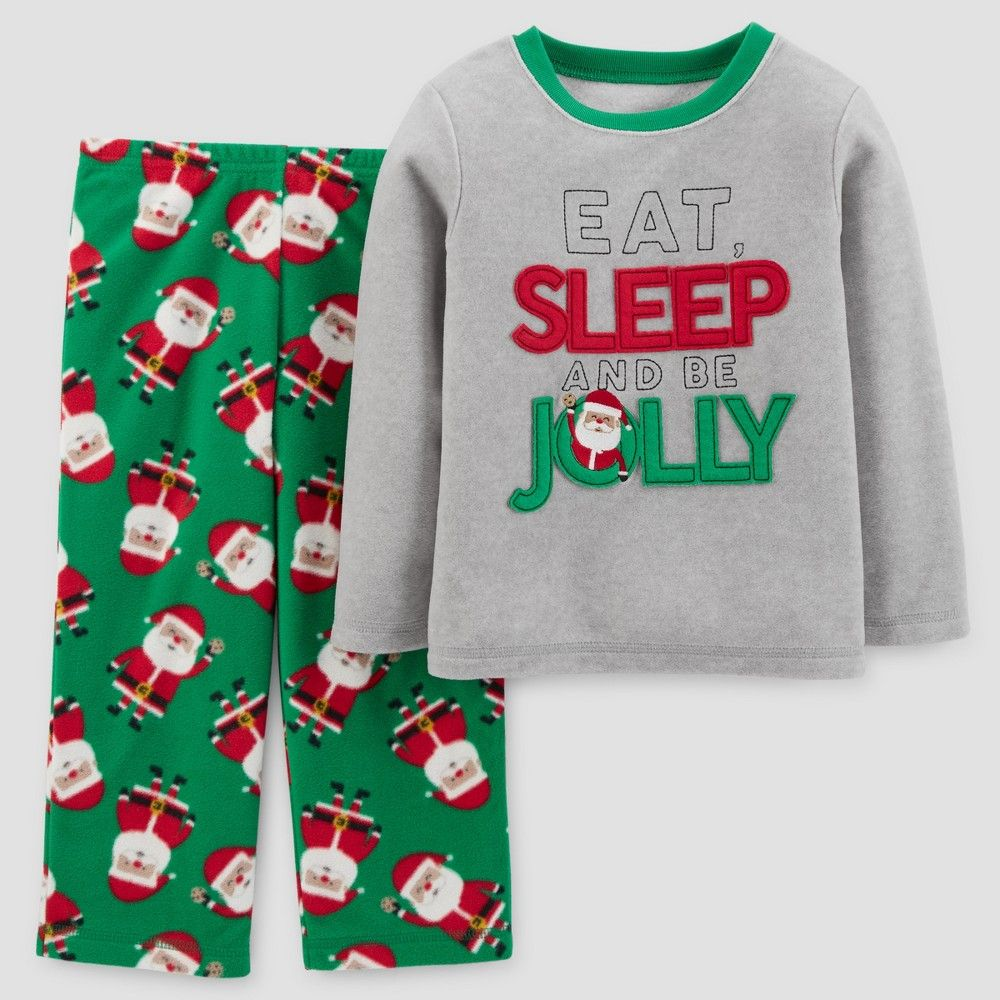 Toddler Boys' 2pc Long Sleeve Here Comes Santa Claus