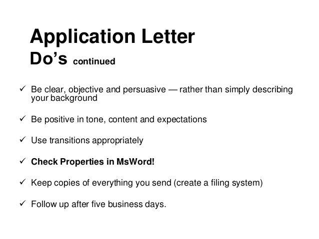 writing the application letter career development for ojt hrmmple