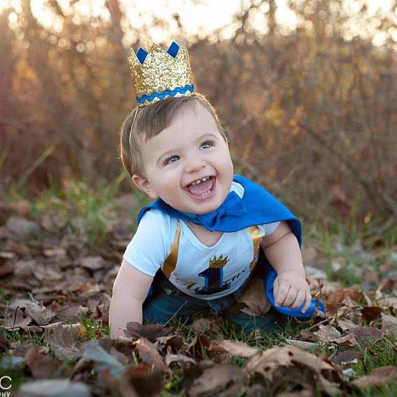 sensación cómoda proveedor oficial patrones de moda Prince Outfit    First Birthday Outfit Boy    Blue 1st ...