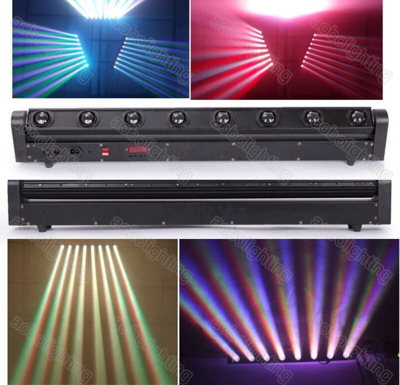 High Quality 10w 8pcs 4in1 Rgbw Cree Led Moving Head Beam Bar Light Led Eight Beam Light Dmx Stage Lighting For Stage Disco Bar Attention Osveshenie V Bare