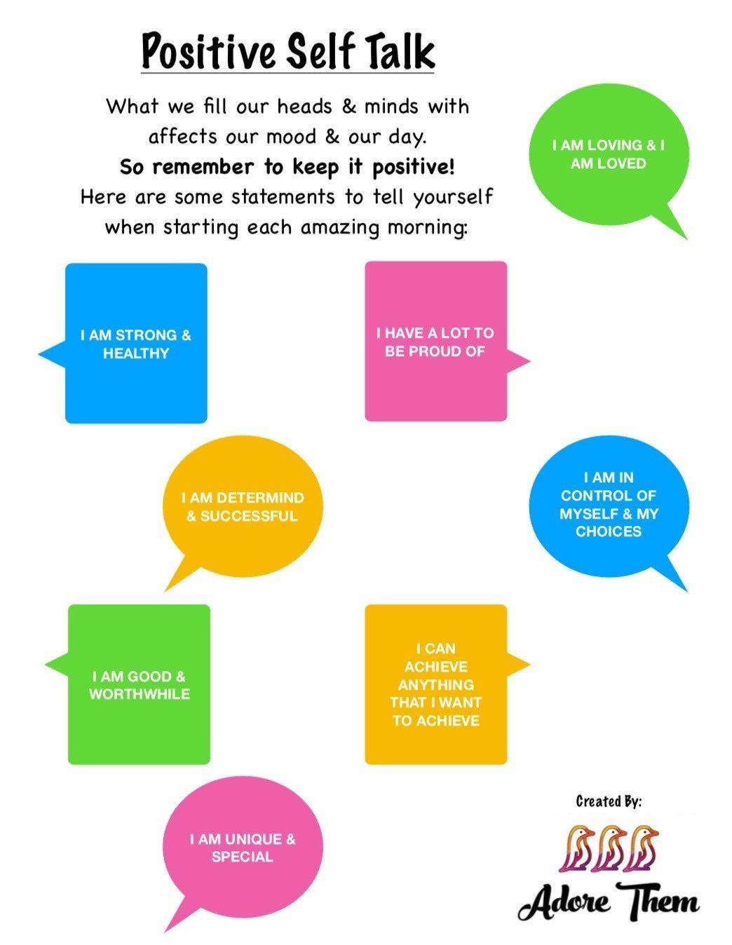 For positive kids talk self Positive Self