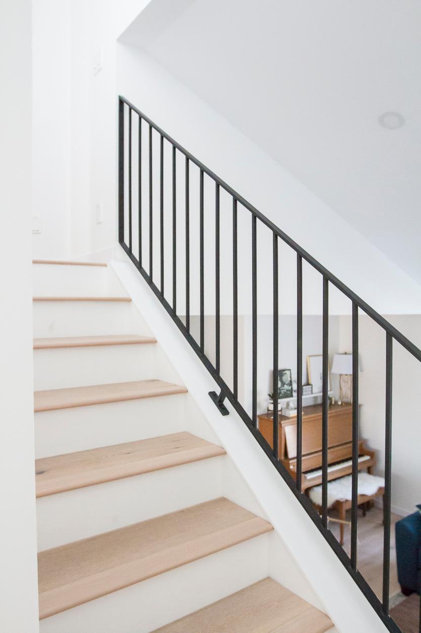 Modern Metal Railings + A Sleek Staircase Design