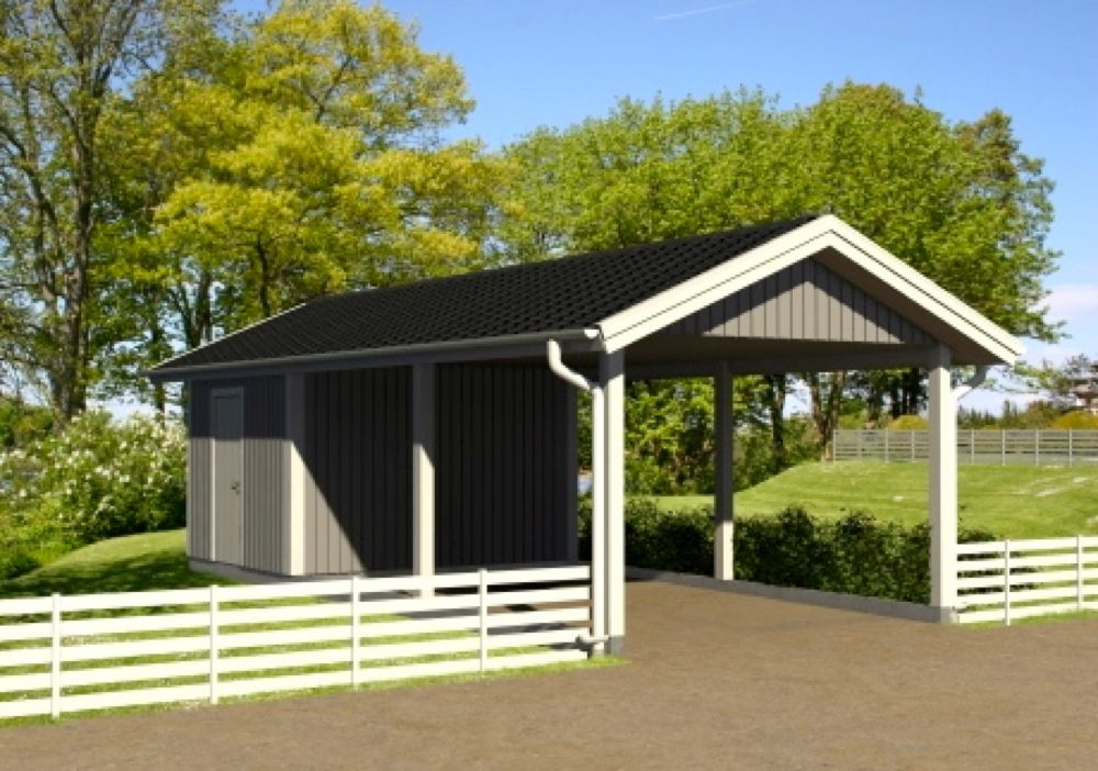 carport med förråd Sök på Google Carport, Trädgård