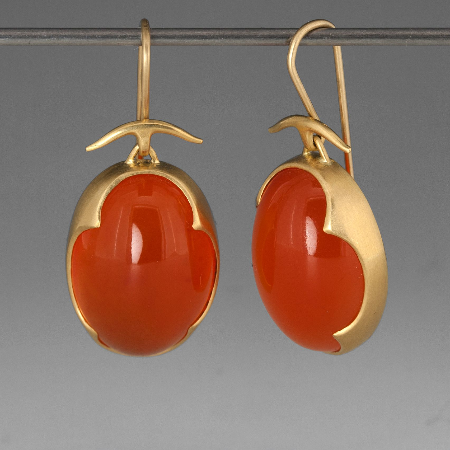 carnelian sharon wm banded wrapped earrings product wire earring burnett