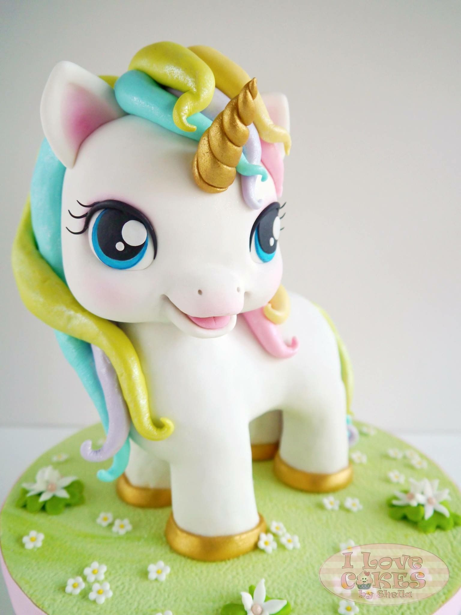 Horse And Unicorn Cake Topper