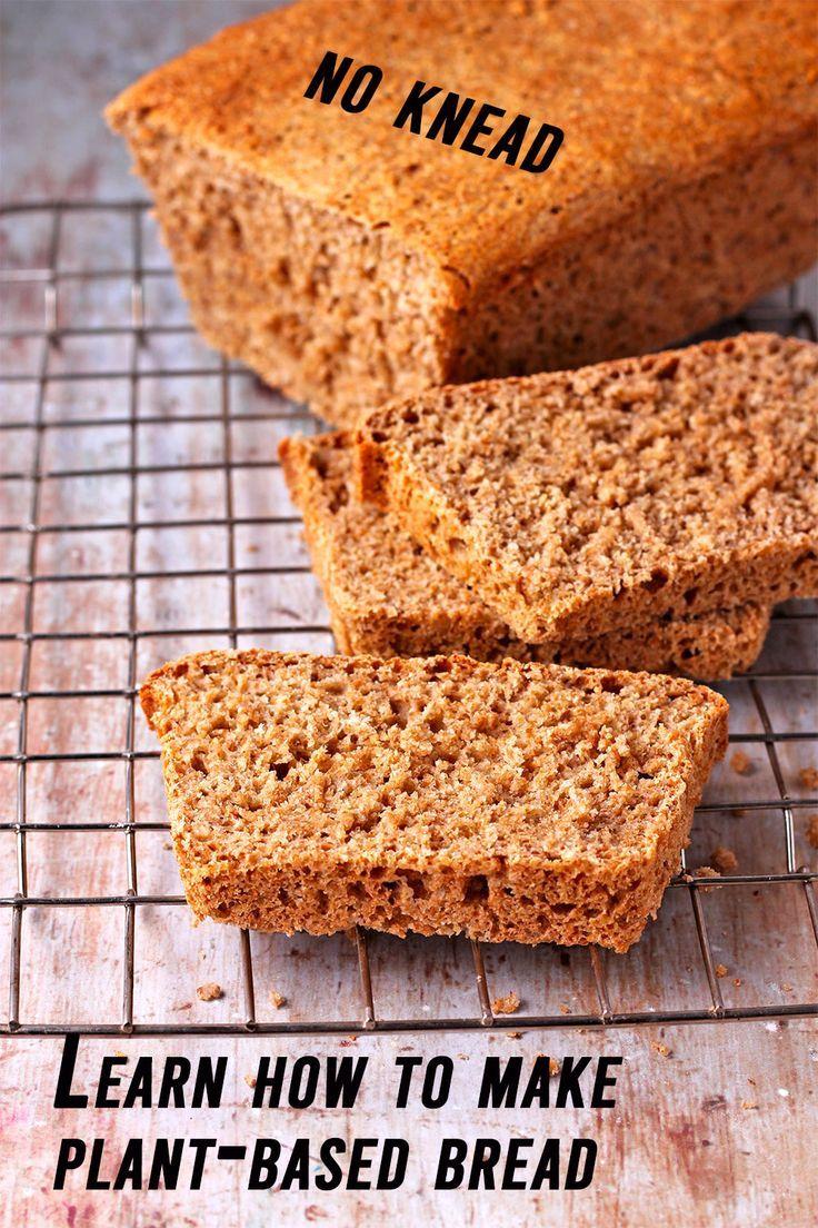 Effortless knead not plantbased bread recipe in 2020