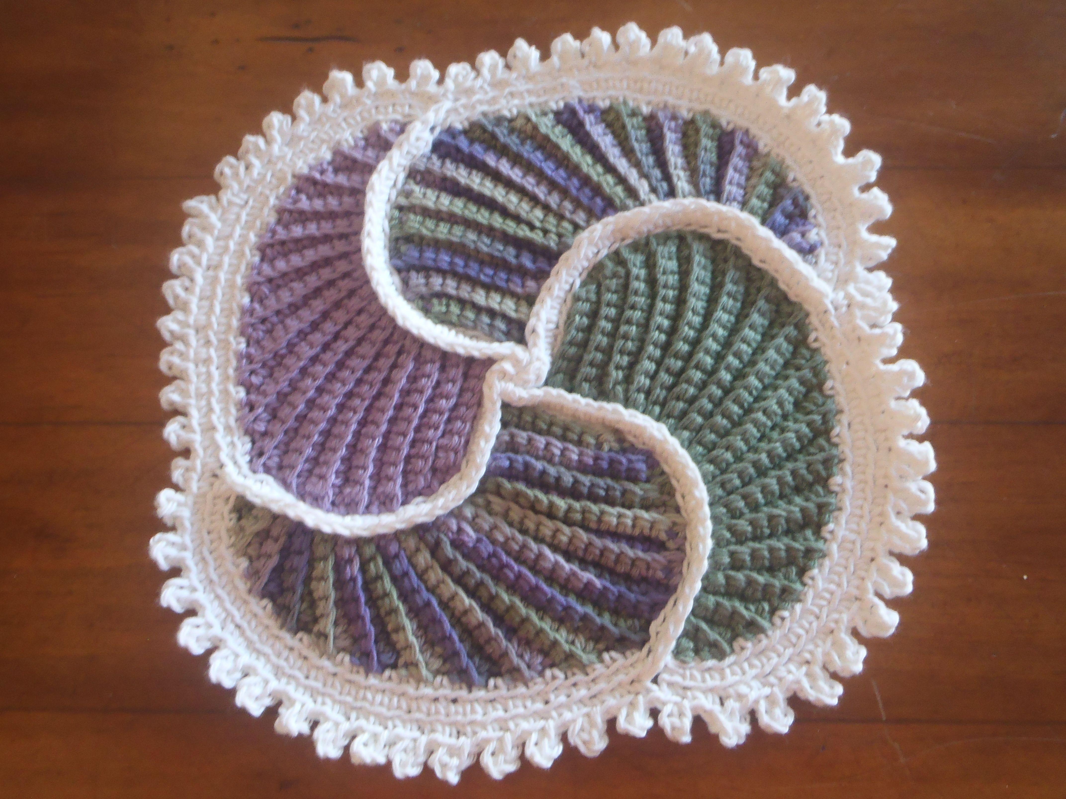 Spiral Trivet, inspired by The Picasso Potholder | FREEFORM crochet ...