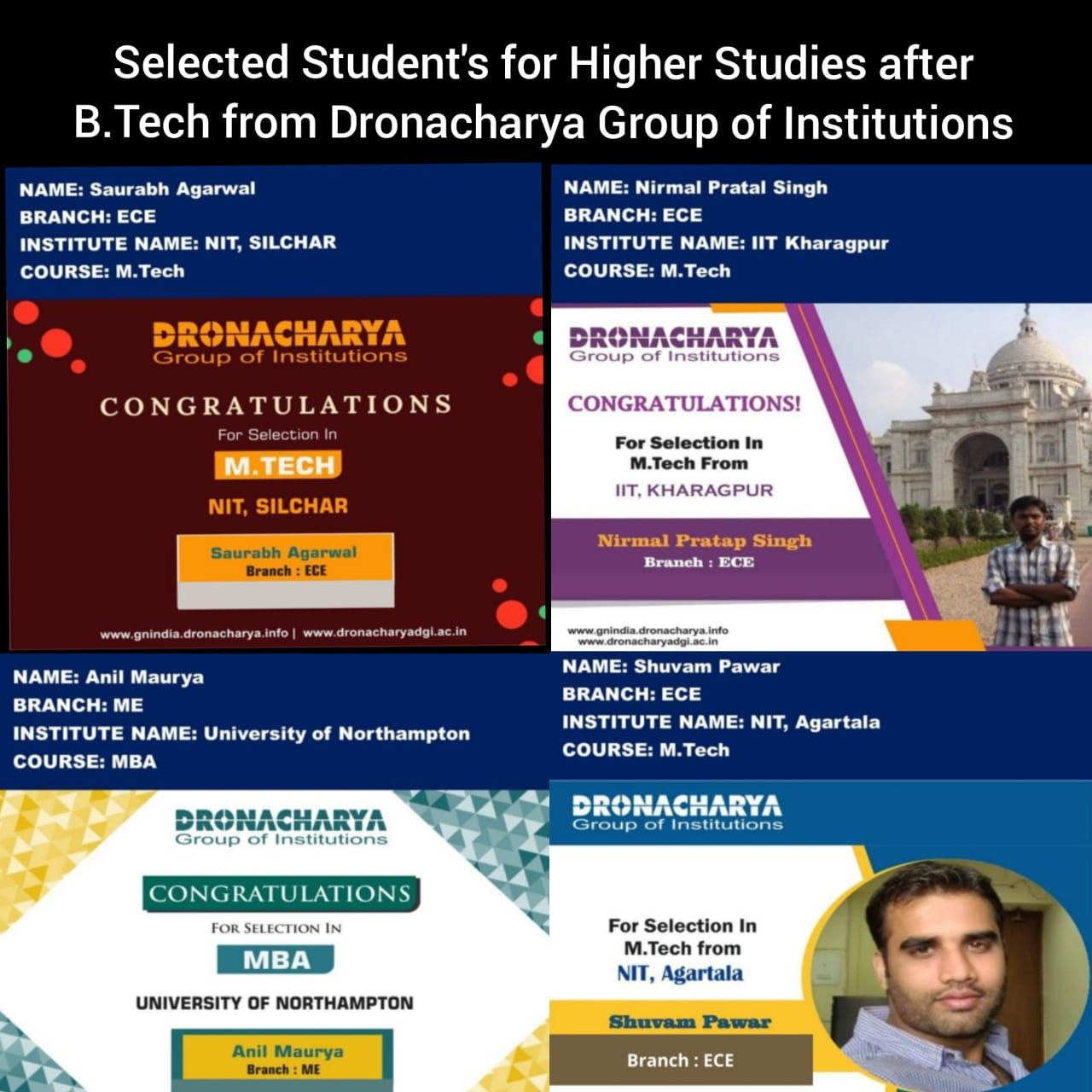 Congratulation To All Students Dronacharya Group Of Institutions In 2020 Top Engineering Colleges Student Achievement Remote Sensing And Gis