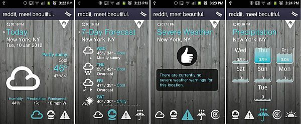1Weather A beautifully designed weather app. Realtime