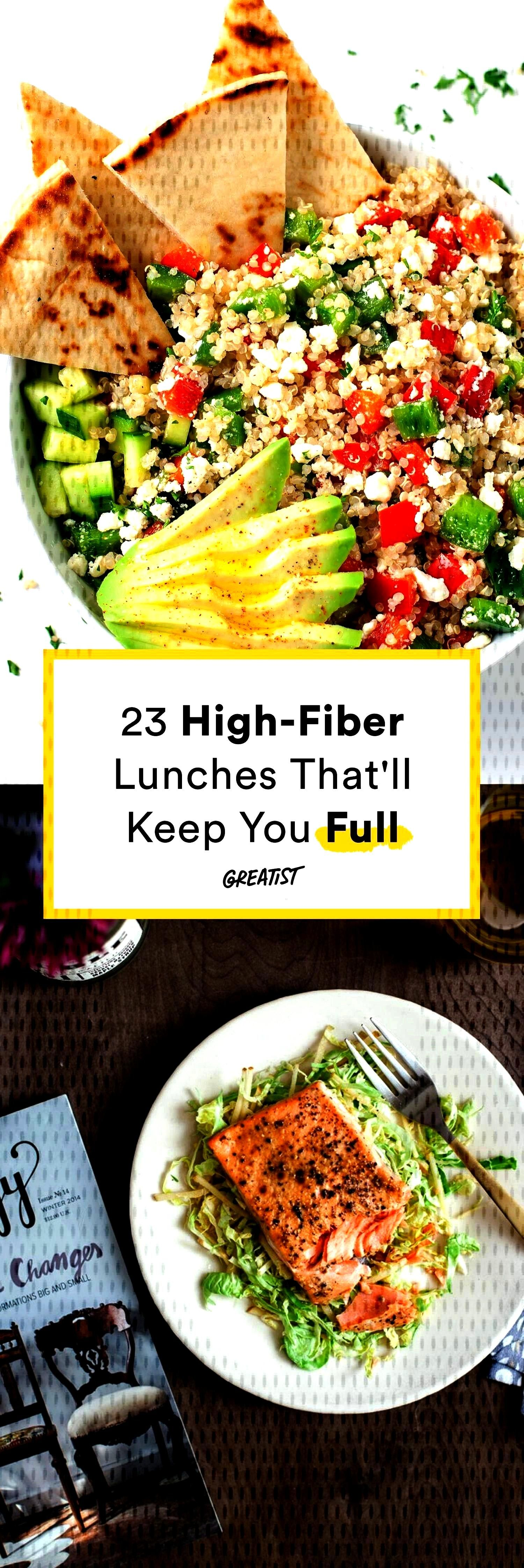 Lunches Thatll Keep You Full Til Dinner -23 High-Fiber Lunches Thatll Keep You Full Til Dinner