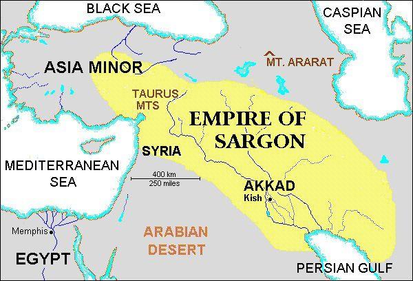 sargon of akkad  Los Acadios y La Estela de NaramSin  mapa