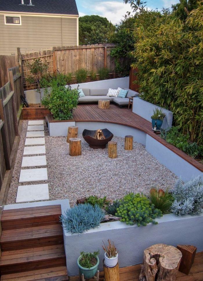 idee amenagement jardin de style zen