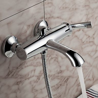 Sprinkle® by Lightinthebox - Contemporary Wall Mount Solid Brass Tub Faucet Chrome Finish – AUD $ 130.65