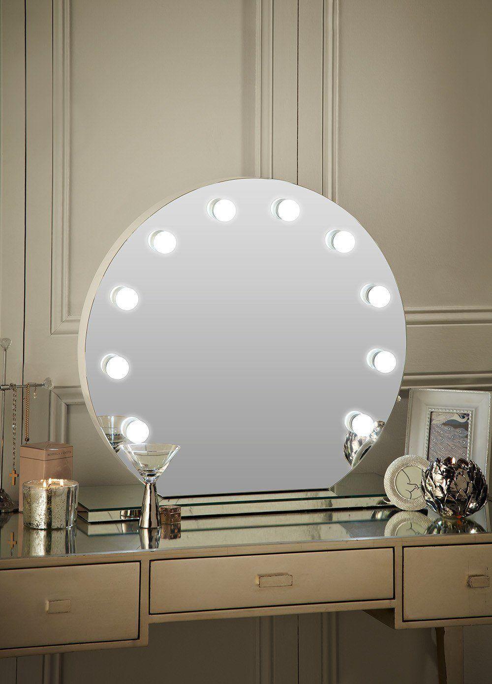 Halle Round Freestanding Hollywood Mirror Dressing Table Mirror Hollywood Mirror Mirrors Uk