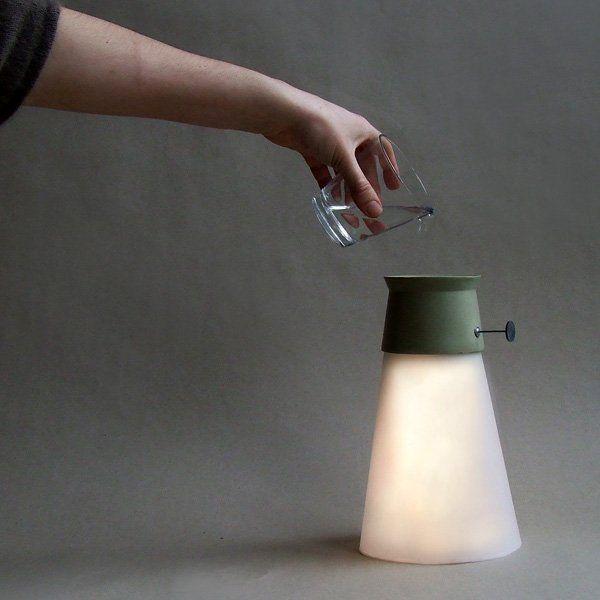 Lamp powered by water #DeskLamp #ConceptualLamp #DesignLamp iD Lights & Lamps