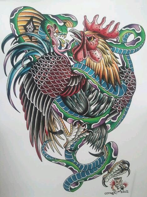 roosters roosters and hens pinterest americana tattoo popular tattoos and tattoo art. Black Bedroom Furniture Sets. Home Design Ideas