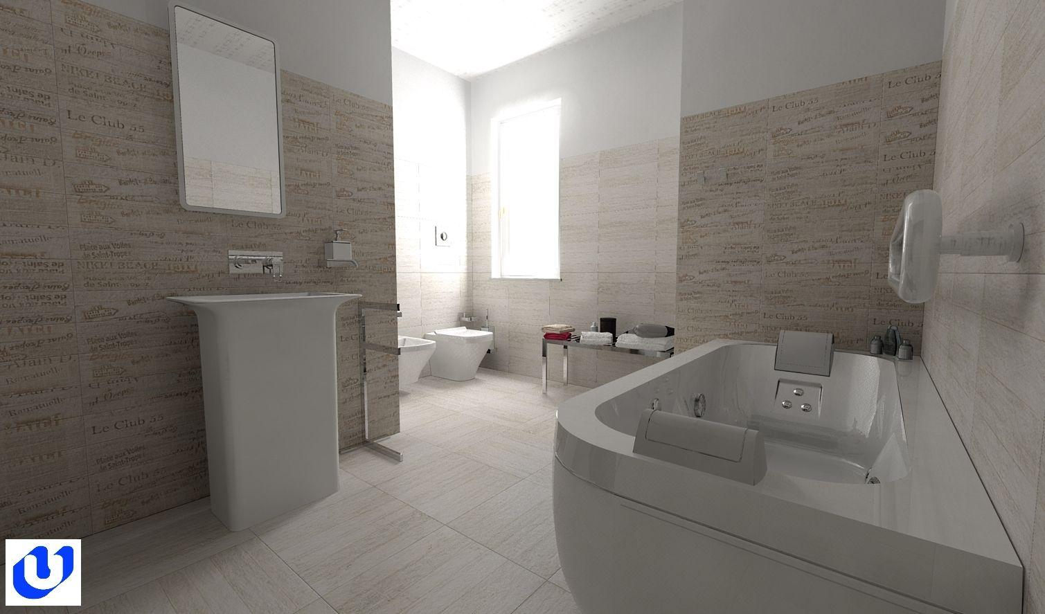 Luci Bagno ~ Bagno abitazione privata bagno con effetto wallpaper in cui i