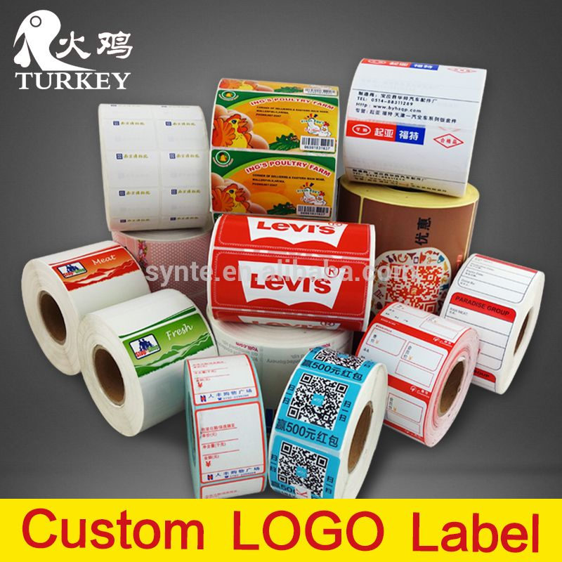 logo printing Wine Label PVC PET sticker custom labels accept trust