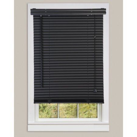 Free Shipping Buy Window Blinds Mini Blinds 1 Slats Black Venetian Vinyl Blind At Walmart Com Faux Wood Blinds Blinds For Arched Windows Horizontal Blinds