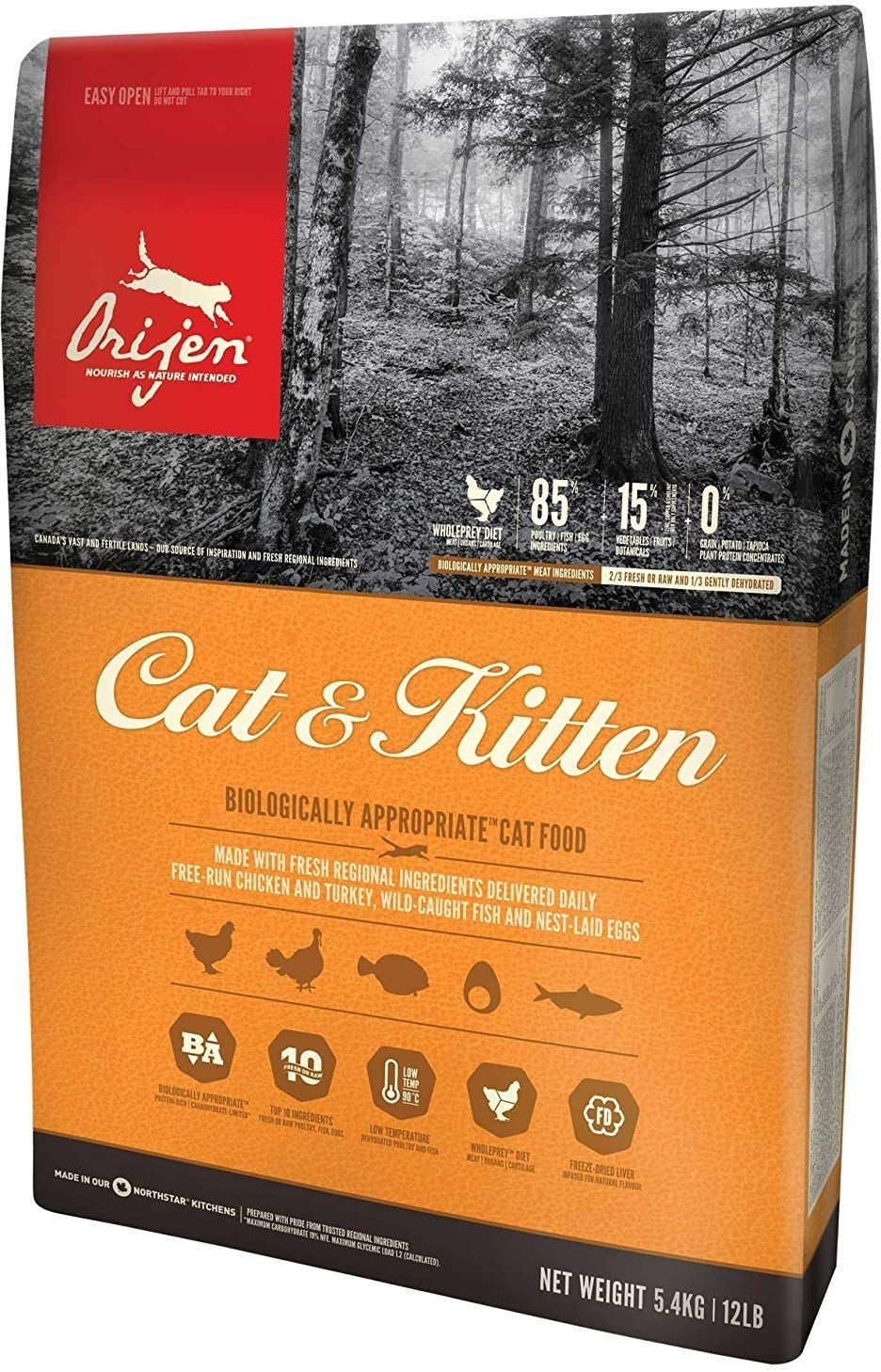 Orijen 12 Lb 1 Pack Cat And Kitten Dry Cat Food Biologically Appropriate For All Life Stages Read More At The Imag Dry Cat Food Kitten Food Cat Food