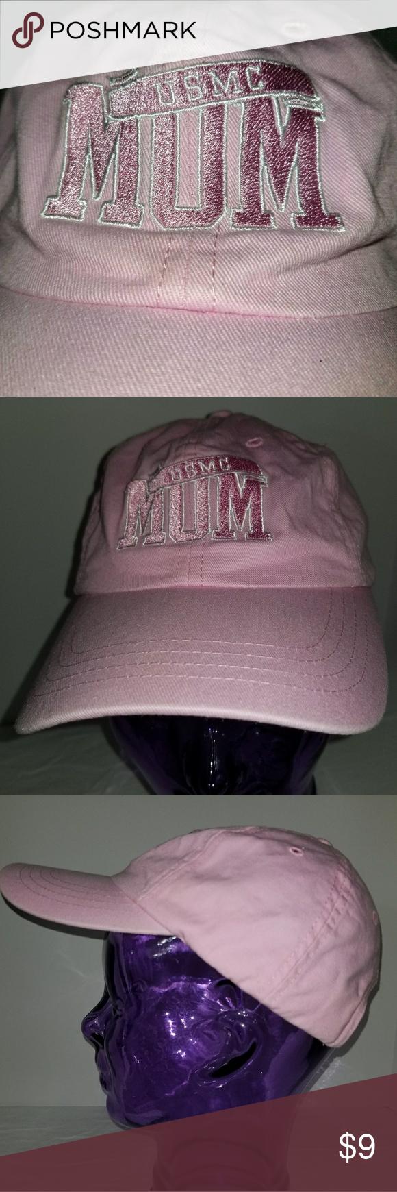 71835c37d1c USMC Mom baseball cap Pink USMC MOM embroidered on the front